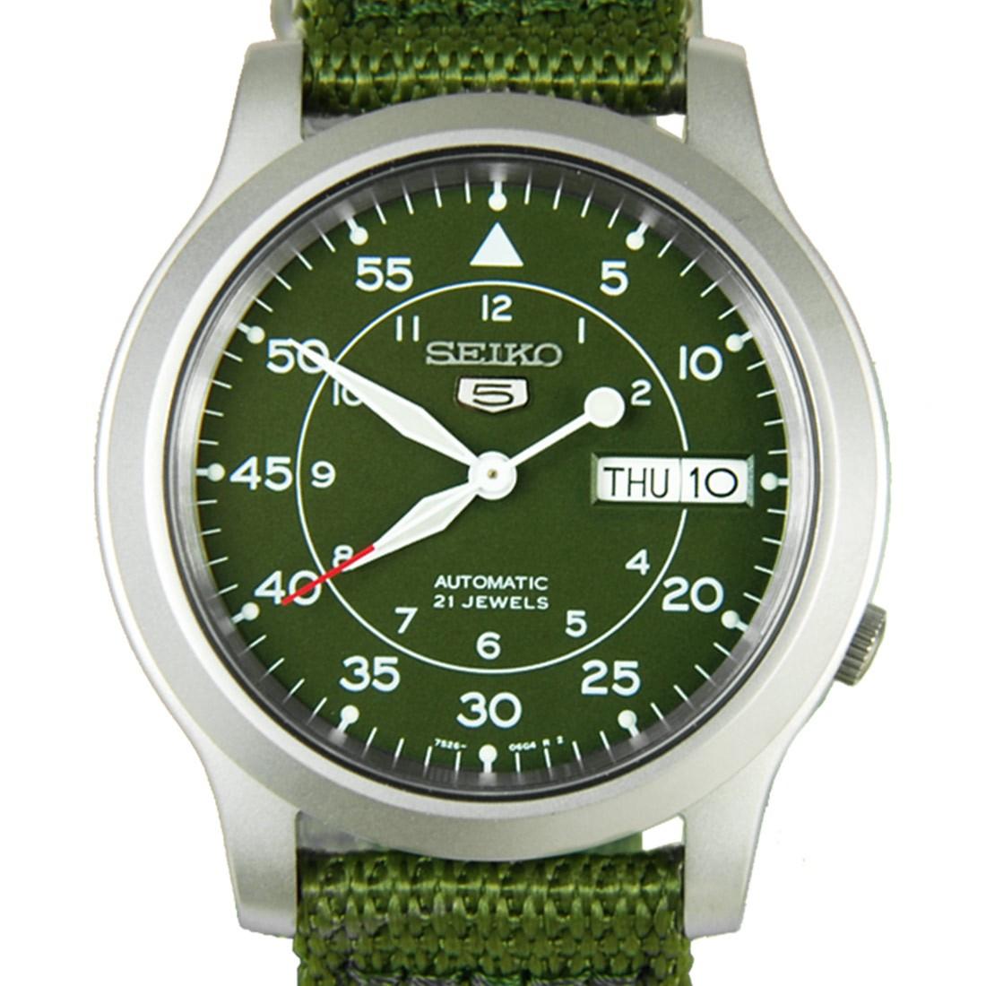 【錶飾精品】SEIKO手錶 精工錶 盾牌5號 綠色帆布 軍用機械錶 SNK805K2 全新原廠正品 情人生日禮物