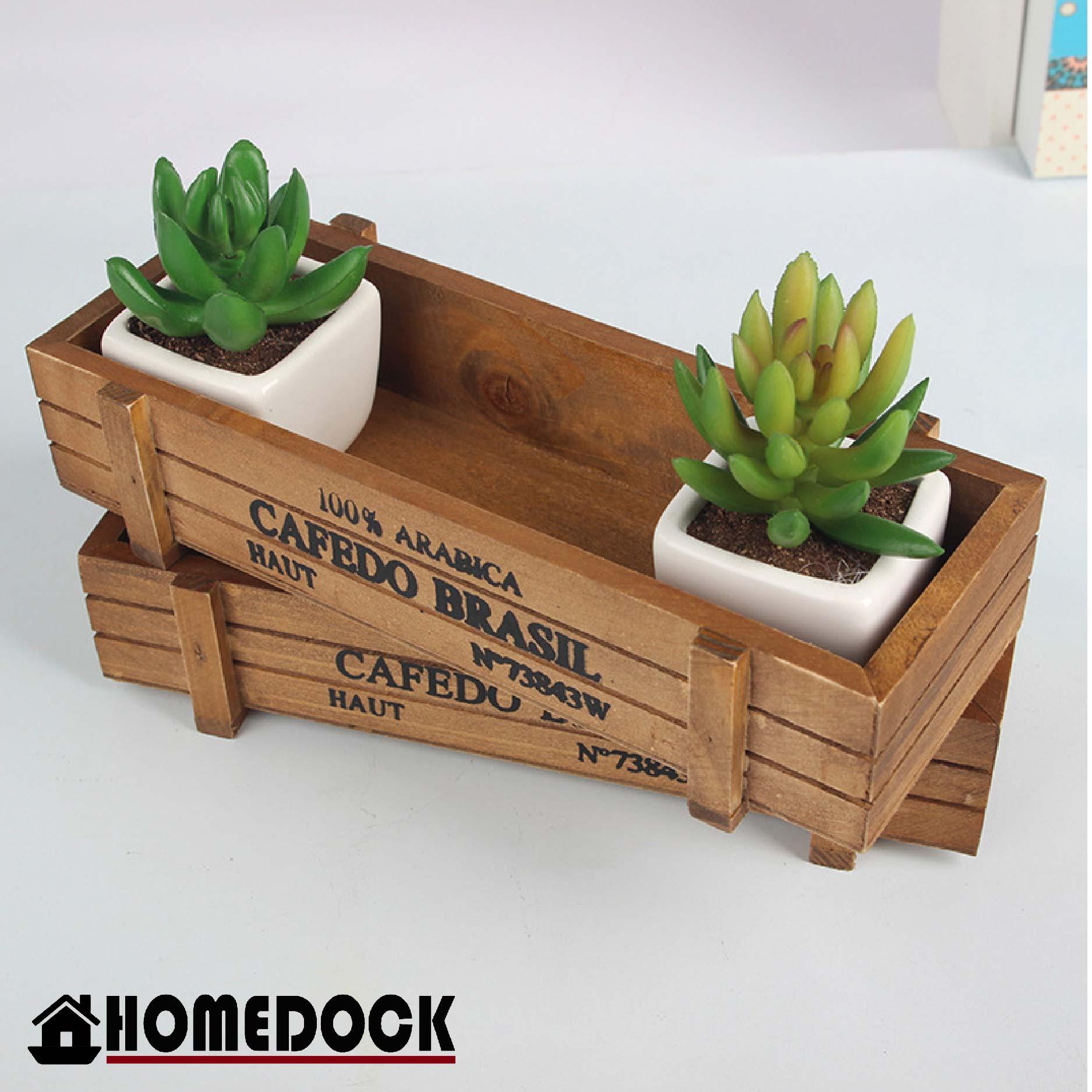 HOMEDOCK-原木質感仿盆栽收納盒 /花盆/置物盒/Zakka/雜貨/原木製/層格櫃/植物/花器/仿舊