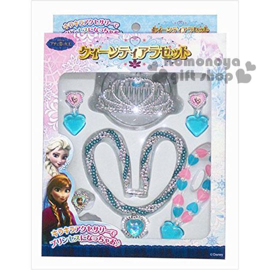 〔小禮堂〕迪士尼 冰雪奇緣 飾品玩具組《銀.皇冠.項鍊.盒裝》增加親子互動