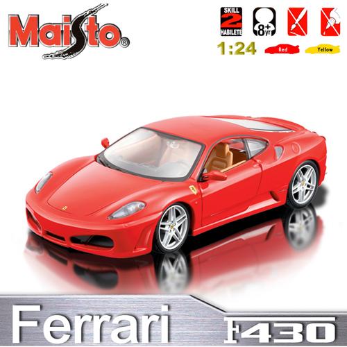 【Maisto】Ferrari F430《1/24 》合金組裝車 -紅