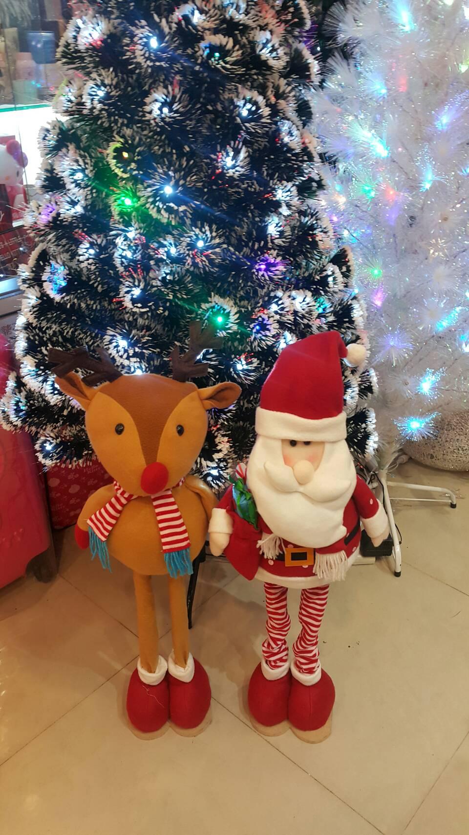 X射線 【X180001】伸縮老公公.麋鹿擺飾,聖誕麋鹿/聖誕擺飾/聖誕禮物袋/聖誕老人衣服/老公公/雪人
