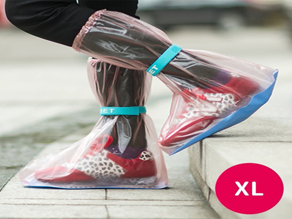 BO雜貨【SV6273】加厚防滑雨鞋套 超強防水高筒雨靴套 雨鞋 雨衣 防水鞋 防水雨鞋  XL