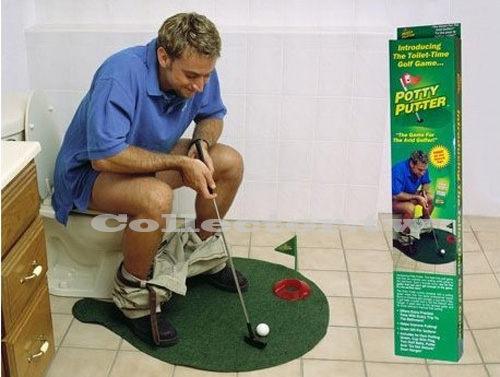 【A13072901】Potty Putter 廁所高爾夫 馬桶高爾夫球 迷你高爾夫玩具