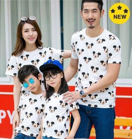 EMMA商城~爸爸款滿版米奇短袖男生上衣T恤 韓版親子裝