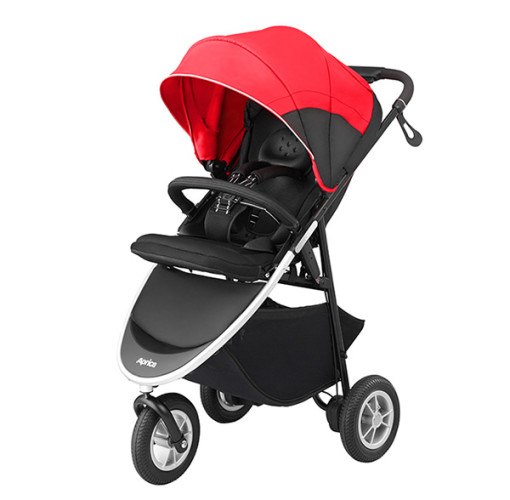 *babygo*愛普力卡Aprica SMOOOVE 大三輪 挑高型座椅大三輪型嬰幼兒手推車(紅/紫)
