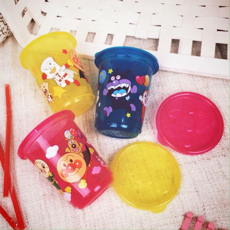 PGS7 日本卡通系列商品 - 麵包超人 それいけ! 造型 吸管 飲料 杯 兒童 造型水杯 三入一組