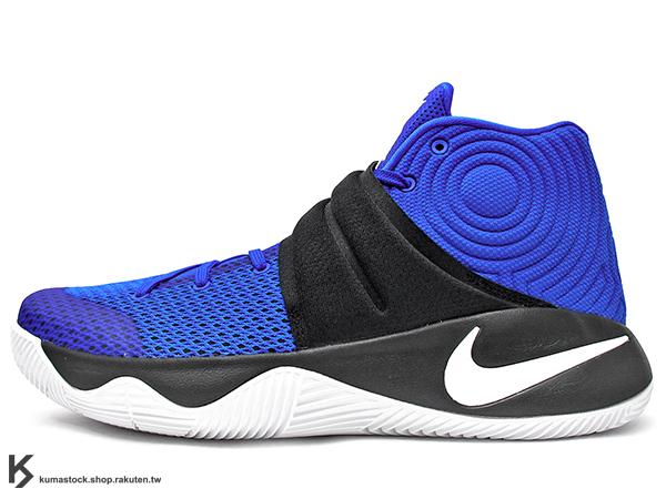 2016 Kyrie Irving 最新代言鞋款 NIKE KYRIE 2 II EP BROTHERHOOD DUKE 黑藍 黑藍白 杜克 兄弟 黏扣帶 HYPERFUSE 鞋面 後 ZOOM AIR 氣墊 UNCLE DREW (820537-444) !