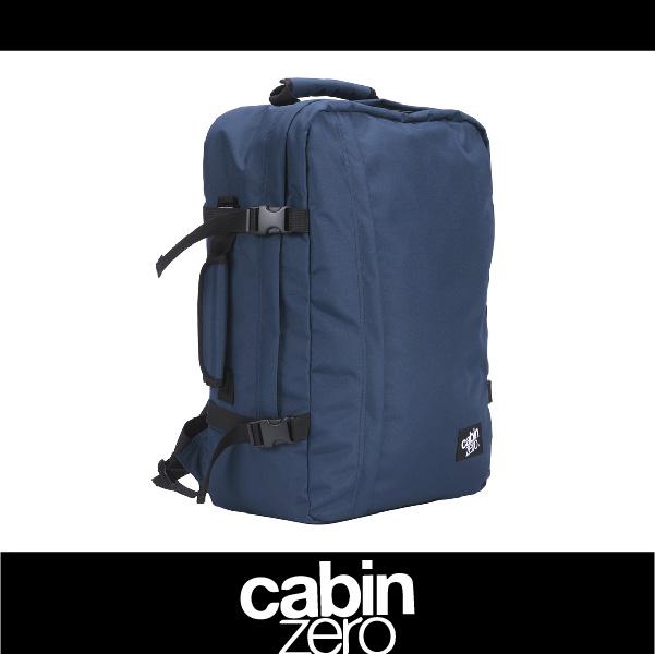 【買就送隨身腰包】CABIN ZERO 161-CZ061205 輕量44L後背包 登機 假期 公事 手提 多用途 可上密碼鎖 國際背包身分證 深藍色 萬特戶外運動