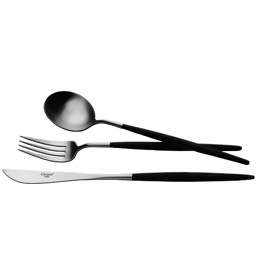 Cutipol - GOA 黑柄霧面不鏽鋼餐具