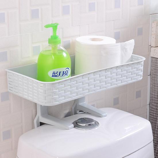 ♚MY COLOR♚多功能吸壁式置物架 馬桶蓋 衛浴 洗漱 懸掛 吸盤 無痕 雜物 分類 掛鉤【W60】