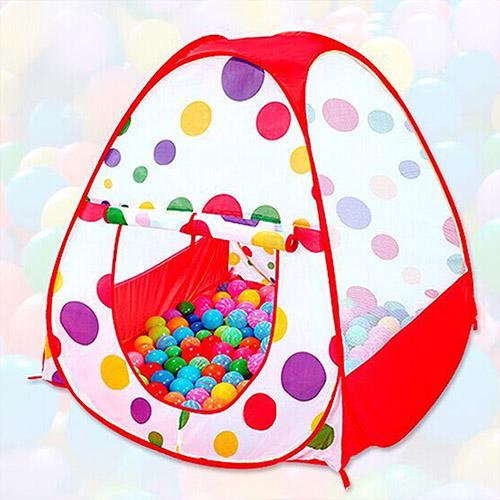 【親親寶貝】粉彩點點超大兒童遊戲帳篷屋/野餐帳篷_寶貝的秘密基地
