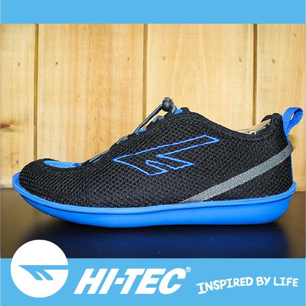 萬特戶外運動 HI-TEC  ZUUK 男絲瓜鞋 極輕樂步 旅行必備便鞋 免綁鞋帶 男款黑色+藍底