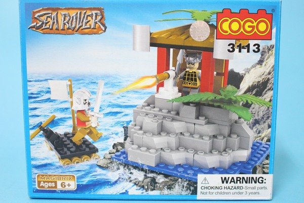 COGO積高積木 3113 海盜瞭望台積木(中) 約100片/一盒入{促180}~可與樂高混拼喔