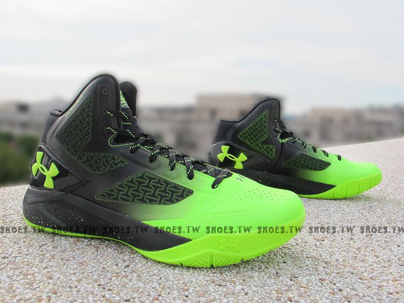 《下殺7折》Shoestw【1258143-005】UNDER ARMOUR UA 籃球鞋 黑螢光綠 CURRY 8月新款