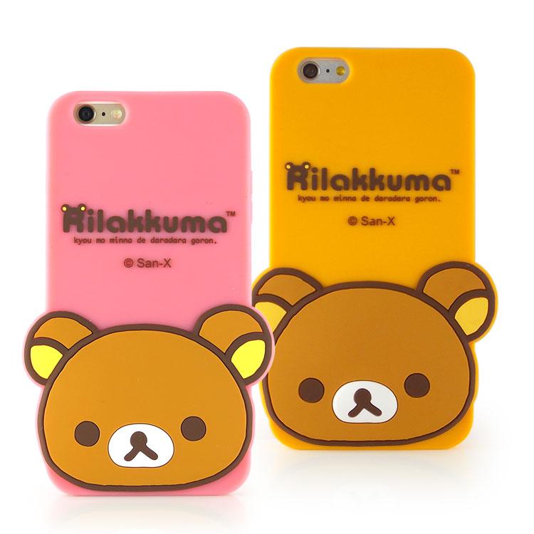 Rilakkuma 拉拉熊/懶懶熊 iPhone 6 Plus/6s Plus 可愛立體造型保護套-大頭