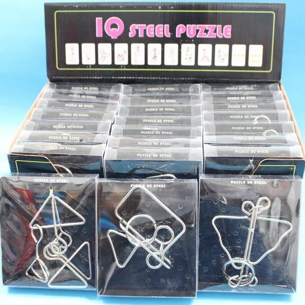 IQ魔術道具 中白鐵智力環扣 智力鐵環(中黑盒/共有12款)一款入{促60}~5380