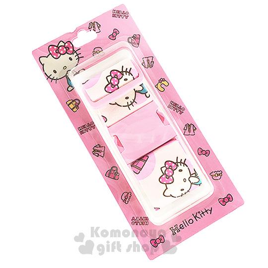 〔小禮堂〕Hello Kitty 旅行箱束帶《粉.側坐.衣帽.提包》使旅遊多采多姿