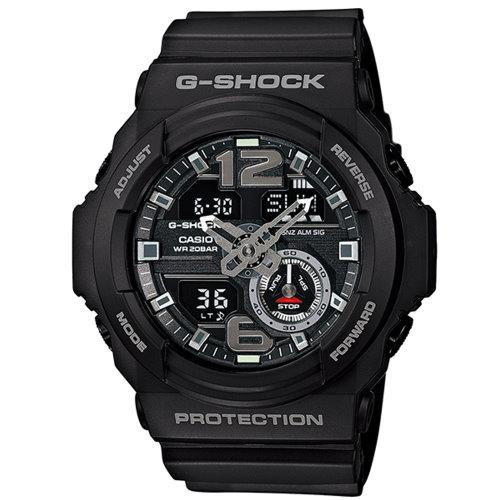 CASIO G-SHOCK/人氣指針雙顯運動錶/黑/GA-310-1ADR