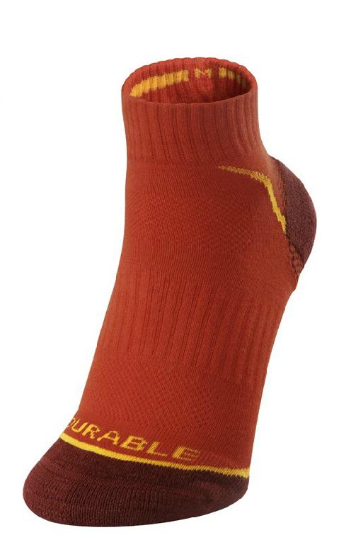 KAILAS 澳洲│女款輕型健行襪-征途(2入)│秀山莊(KH30034 黑 橙紅)
