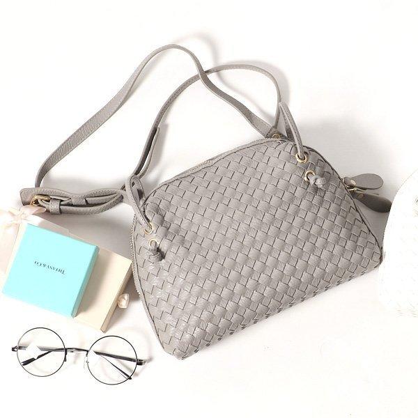 仿羊皮編織包 D&M Shop BV側背貝殼包 斜背手機包 【B11111】