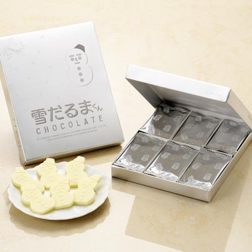 [石屋製菓出品|數量限定|冬季限定]北海道白色戀人季節限定禮盒 雪人巧克力18枚入-白巧克力