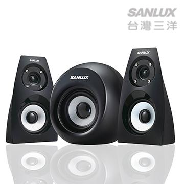 【迪特軍3C】SANLUX台灣三洋2.1聲道AC重低音喇叭 SYSP-313 AC電源設計 耳機插孔 2.1聲道輸出