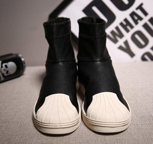 【JP.美日韓】韓國 高統 貝殼鞋 厚底 暗黑 龐克 潮流 質感鞋 adidas zoo znif korea