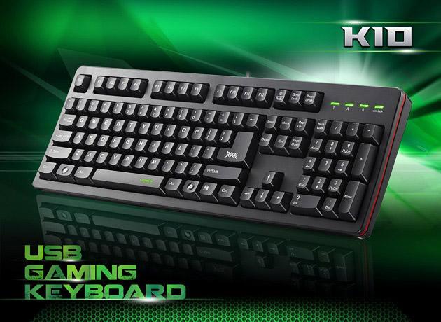 艾芮克 i-Rocks K10 塑鋼軸遊戲鍵盤/電競鍵盤/黑色/30顆鍵不衝突