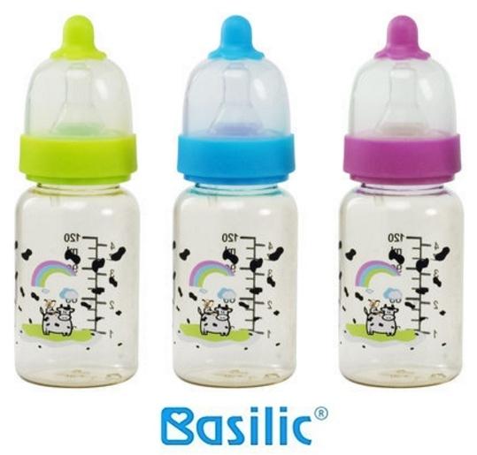 貝喜力克 Basilic標準防脹氣PES葫蘆型奶瓶-120ml / S 三色 D100