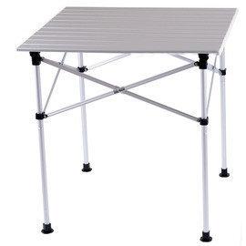 【【蘋果戶外】】Go Sport 92347 四人鋁捲桌 方型/摺疊桌 兩段高低可調/附收納袋/露營 野餐 海釣