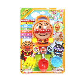 沙灘戲水玩沙玩具-Baby Joy World-【日本Anpanman 麵包超人】海邊沙灘玩沙挖沙玩具5件組