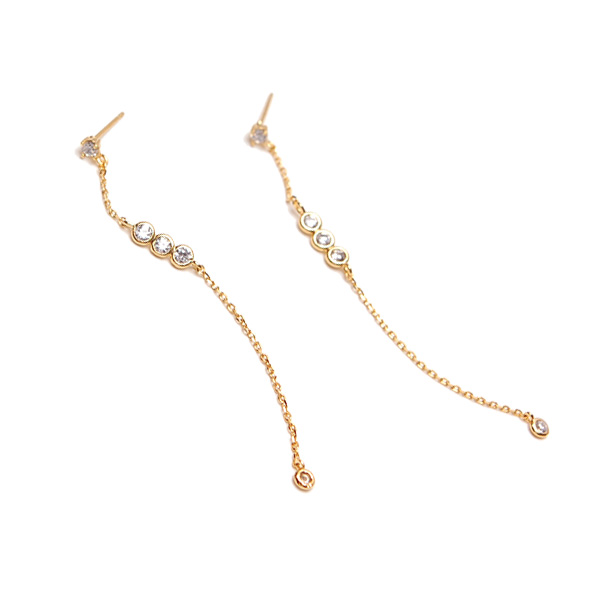 By the yard Long Chain Pierces 風姿綽約鍊狀垂墜穿式耳環