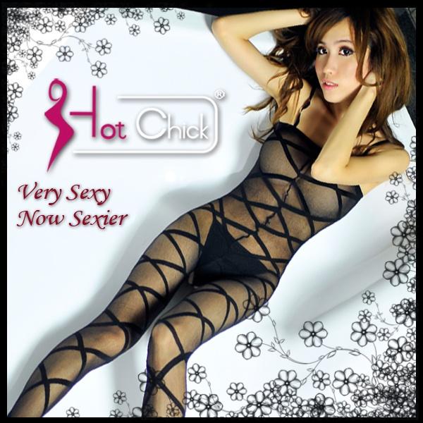 Hot Chick - 裘莉的誘惑.羅馬交叉紋貓裝網衣