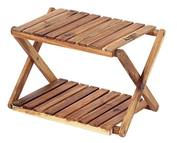 【鄉野情戶外用品店】 CAPTAIN STAG 鹿牌  日本   木製雙層收納架/露營置物架 層架/UP-2503