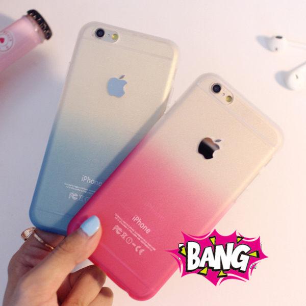 蘋果iphone6 Plus 5.5吋 小清新彩色漸變磨砂矽膠套 蘋果6Plus 超薄磨砂TPU軟殼彩虹手機保護殼【預購】