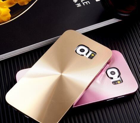 三星Galaxy S6 鐳射旋轉CD紋手機硬殼 Samsung G9200 金屬質感背殼新款潮流保護殼【預購】