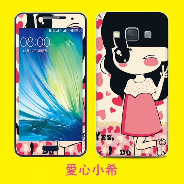 三星Galaxy A3 4.5吋 手機貼 XLT013卡通貼膜 彩膜全身貼高透明螢幕貼 Samsung A3000 高清貼膜【預購】