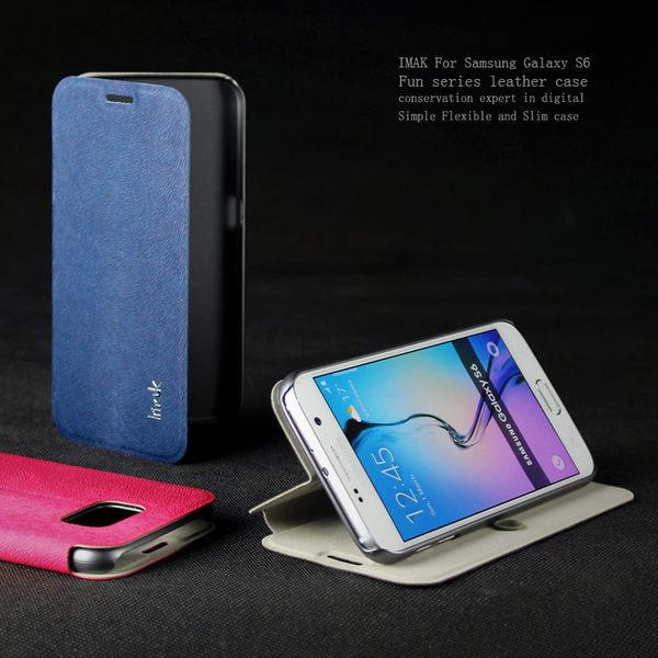 三星 Galaxy S6 G920F G9200 保護套 艾美克IMAK樂系列松鼠紋皮套 手機套 保護殼