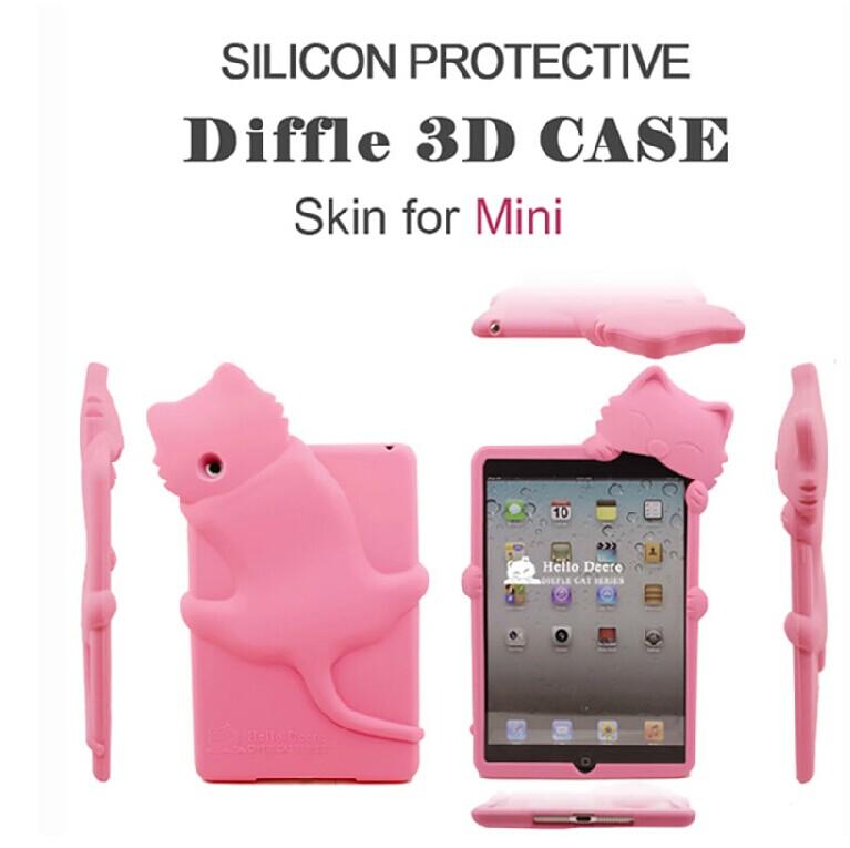 蘋果ipad mini保護套 趴趴貓 迪爾DER迪菲貓系列矽膠套 Apple ipad 迷你軟殼【預購】