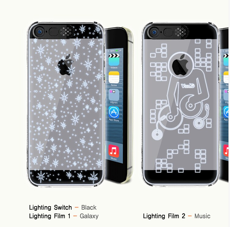 蘋果iPhone5/5S 保護殼 LED來電閃系列手機殼 APPLE iPhone 5S 透明來電閃硬殼