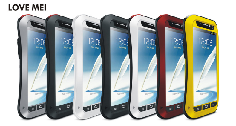 ☆三星N7100 Galaxy Note 2 Love mei三防小蠻腰手機套 防水/防摔/防刮手機保護殼金屬殼【清倉特賣】