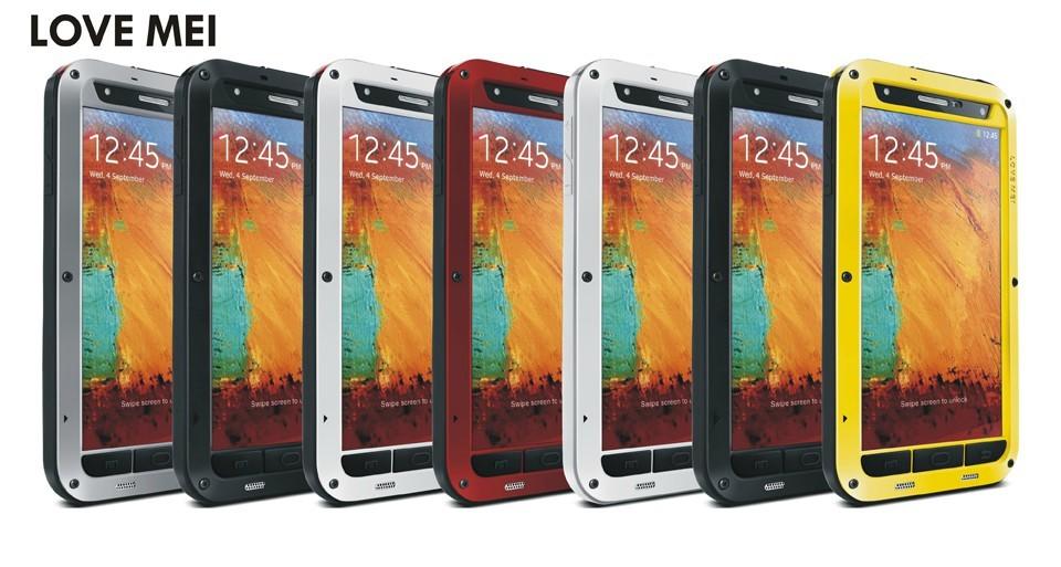 ☆三星Galaxy Note 3 love mei  直邊三防手機套 防水 防摔 防刮 0.25kg  N9000 手機保護殼金屬殼【清倉特賣】