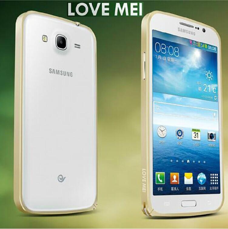 三星Galaxy Mega 5.8保護殼 LOVE MEI 金屬免螺絲海馬扣邊框 i9152 i9150手機殼 【預購品】