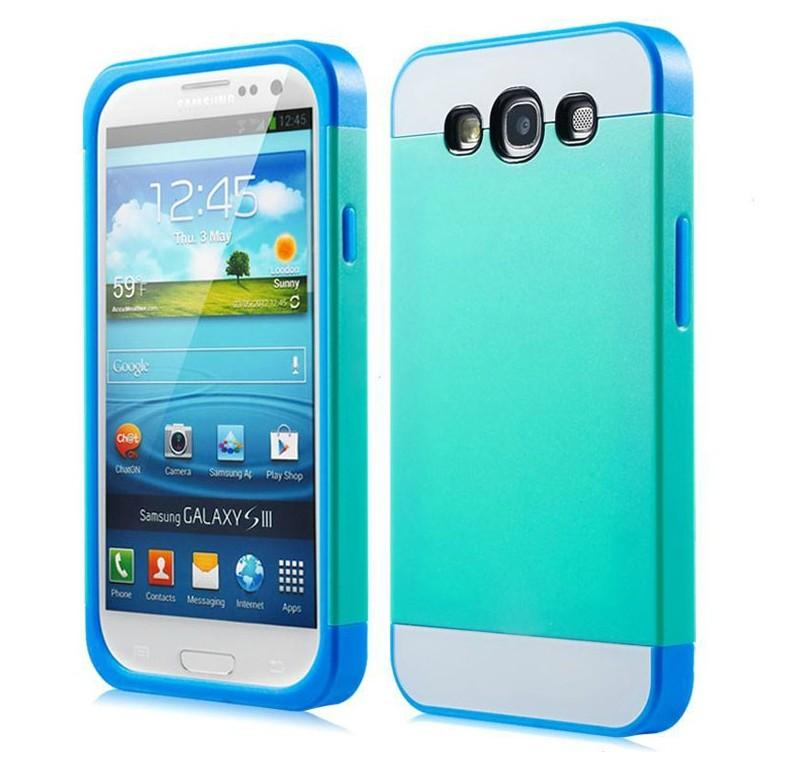 三星i9300 Galaxy S3保護套 NX CASE諾訊拼色三合一手機殼i9308 時尚雙色組合式保護殼