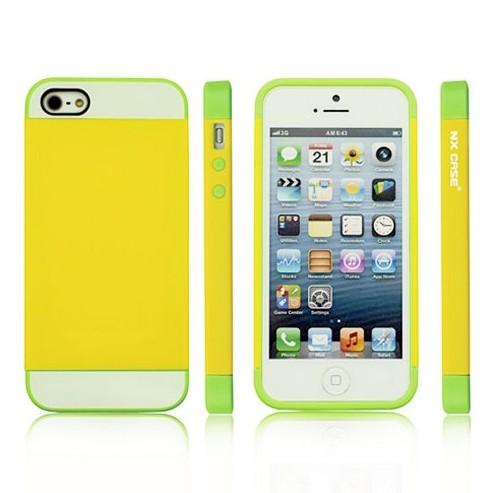 蘋果iphone5/5S 保護套 NX CASE諾訊拼色三合一手機殼 Apple 5S手機套5G 時尚雙色保護殼