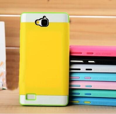 華為 榮耀3C 保護套 諾訊NX CASE拼色三合一手機殼 手機套時尚雙色組合式保護殼
