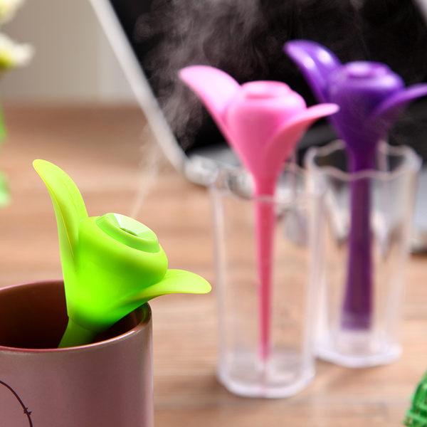 加濕器 創意三葉草帶夜燈含水杯 迷你智能USB空氣加濕器 辦公室 車載靜音 加濕器【預購】