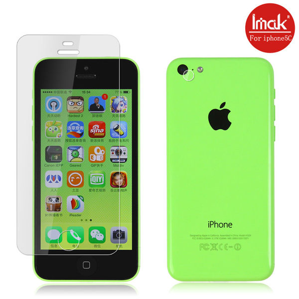 蘋果 iphone5C 手機貼 imak艾美克高透明螢幕貼(附攝像頭貼)Apple 5C 超清保護貼高清貼膜保護貼