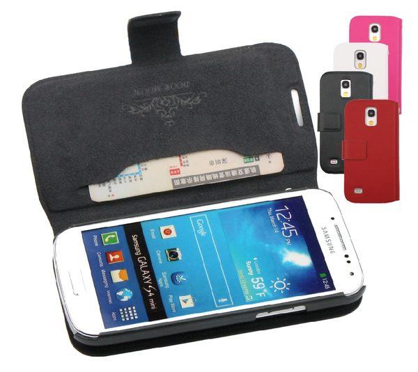 三星i9190 Galaxy S4 mini保護套 真皮世家真皮左右開皮套 Samsung i9195 i9192 i9198 支架插卡保護套【預購】