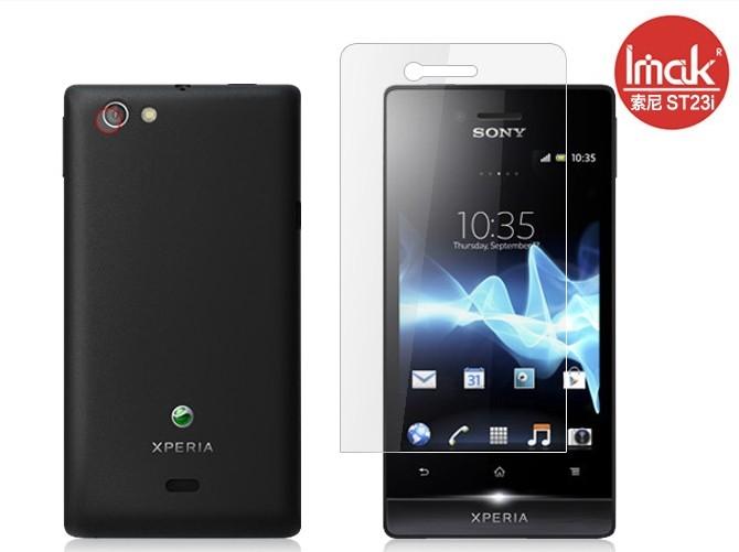 SONY ST23i Xperia miro手機貼 imak艾美克高透明螢幕貼(附攝像頭貼)索尼 ST23i 屏幕保護貼保護膜